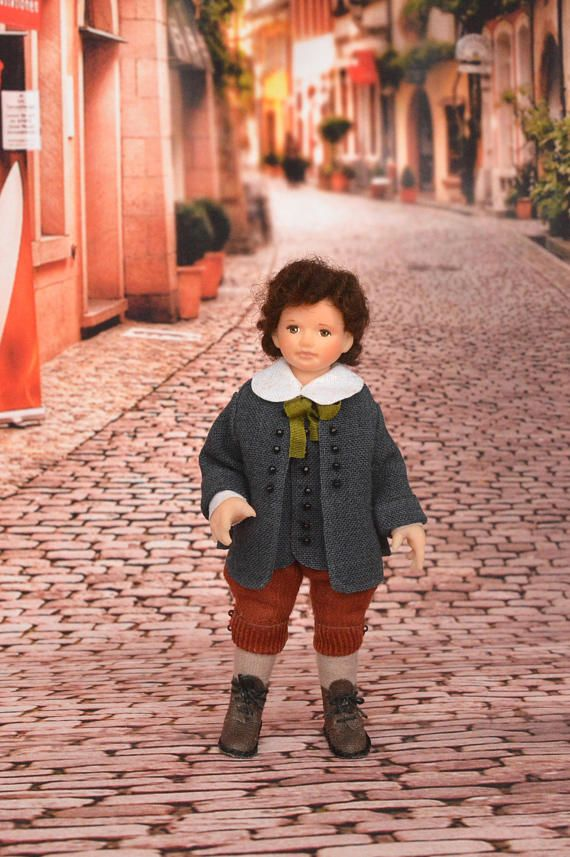 Miniature Doll Polymer Boy 1:12 Scale Clay Miniatures