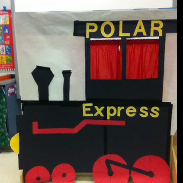 Polar express photo booth. Can someone make for me so that Annie can take pics during Polar Express Day??