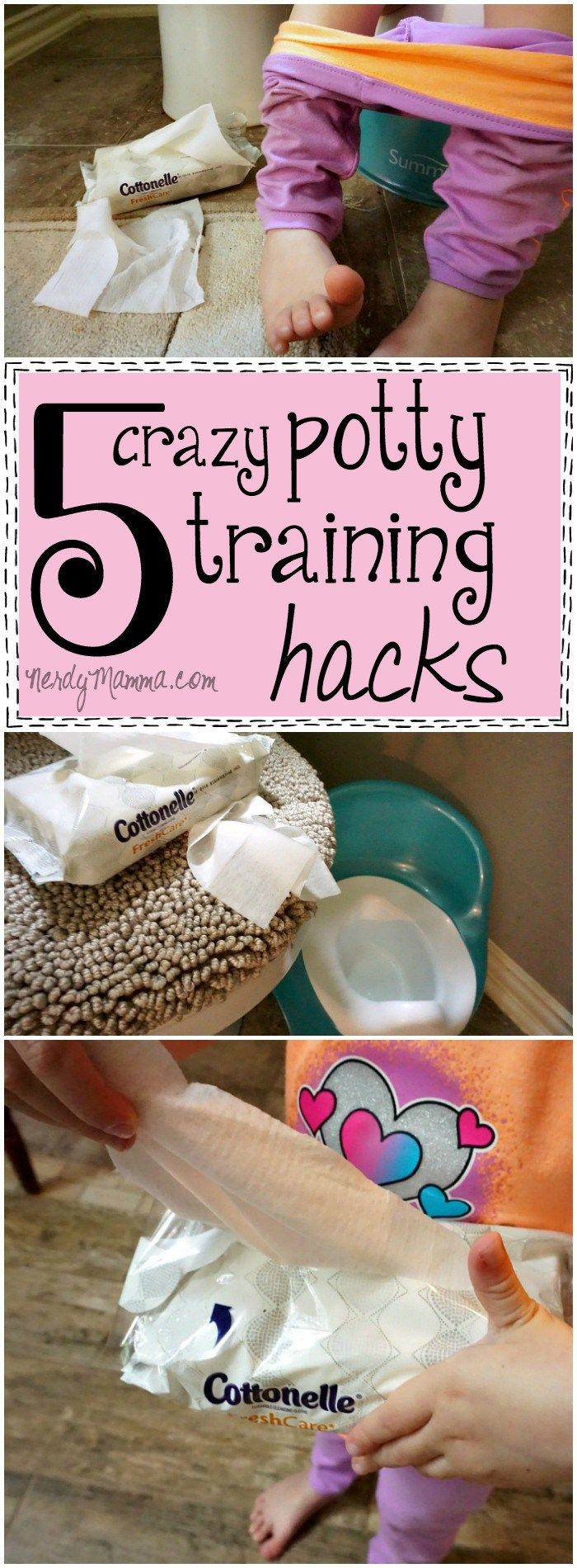 These Potty Training Hacks are just so clever! I love what she does with the kid's backpack. LOL! AD #ConfidentClean