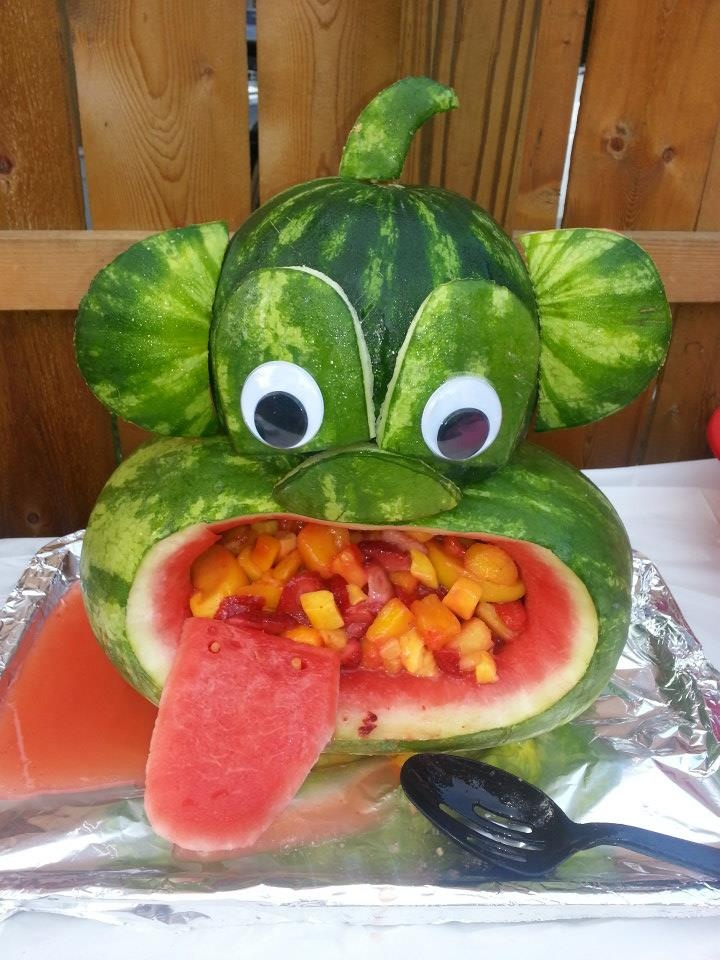 Monkey watermelon fruit decorations pinterest