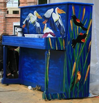 Lovely painted pianos are all around Fort Collins, Colorado. Sit down and play!  We know you took those lessons! ENJOY OUR TOWN!