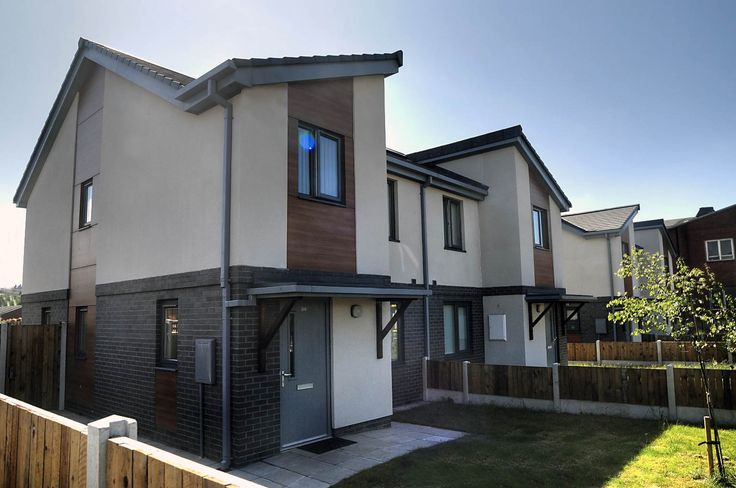 Blackfield Street, Liverpool. This social housing development for Liverpool Housing Trust consists of 15 two bedroom, three person apartments, one being a wheelchair accessible unit, along with four three bedroom five person houses. Croft Goode Architects