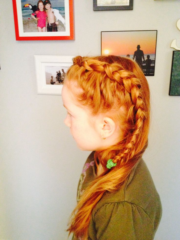 Braid -she wanted to look like Anna from Frozen