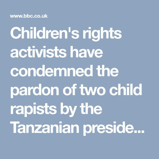 """Kate McAlpine, director of the Arusha-based Community for Children Rights, told the BBC she was """"horrified but unsurprised"""".  John Magufuli made the pardon in his independence day speech on Saturday.  Singer Nguza Viking, known as Babu Seya, and his son Johnson Nguza, known as Papii Kocha, were pardoned for raping 10 primary schoolgirls."""