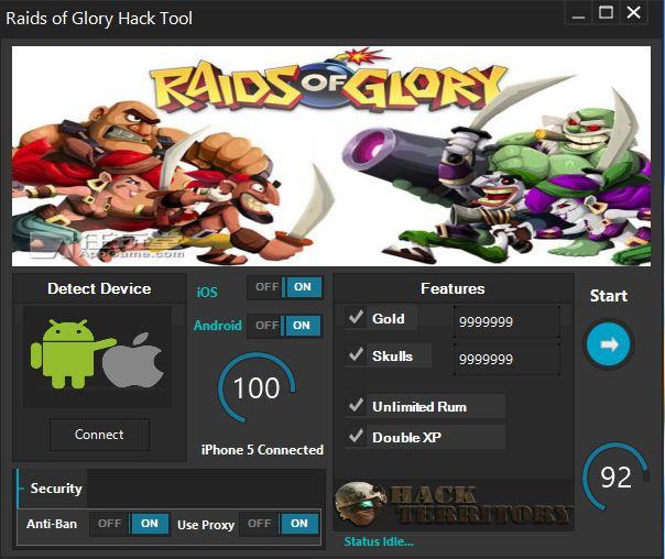 Bonjour! Aujourd'hui HackTerritory équipe est heureuse de vous présenter Raids de Gloire Outil de piratage . Cet outil a été créé pour l'instant pour tous les Android et iOS devices.
