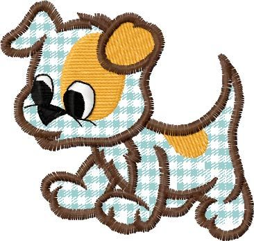 """This free embroidery design is called """"funny dog""""."""