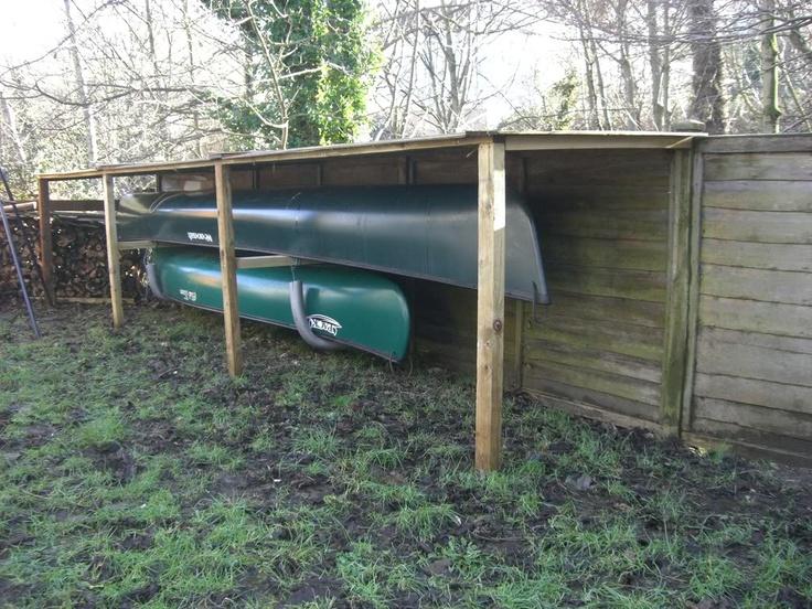 20 best garage or shed ideas images on pinterest sheds for Canoe storage shed
