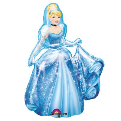 Add a little extra excitement to their party with this Cinderella Airwalker balloon! Specially created with a large weighted design, simply fill with balloon gas and their favourite character will appear to walk on air!