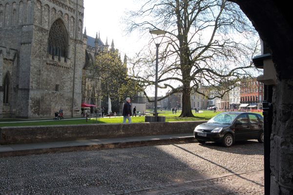 View out to Exeter Cathedral from our Exeter branch.