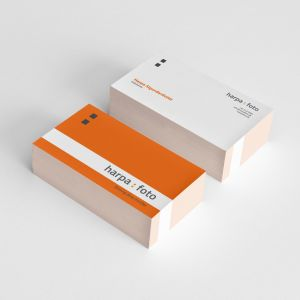 Harpa Foto business cards. By byDesign