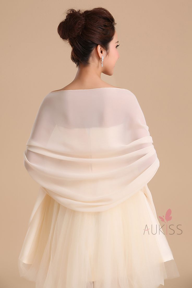 Bride Chiffon Wedding Accessories Shrug Wrap Shawl Married Scarf Birdal Stole Customize Color Thin Cape-inScarves from Women's Clothing & Accessories on Aliexpress.com | Alibaba Group