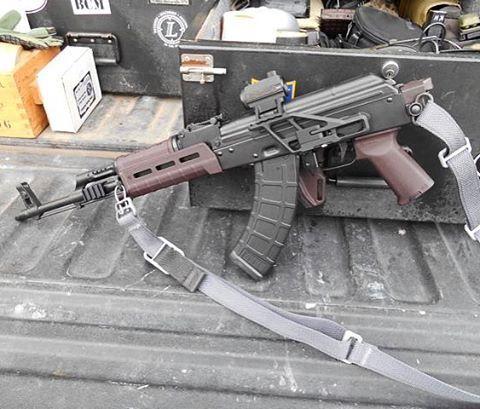 "Ken Hackathorn""s new AK, view from the other side. @alias_training @vickers_tactical @algdefense @magpul #guns #gunporn #gunsdaily #gunsnscotch #ak47 #training #trainhard #igmilitia #igmilitiaca"
