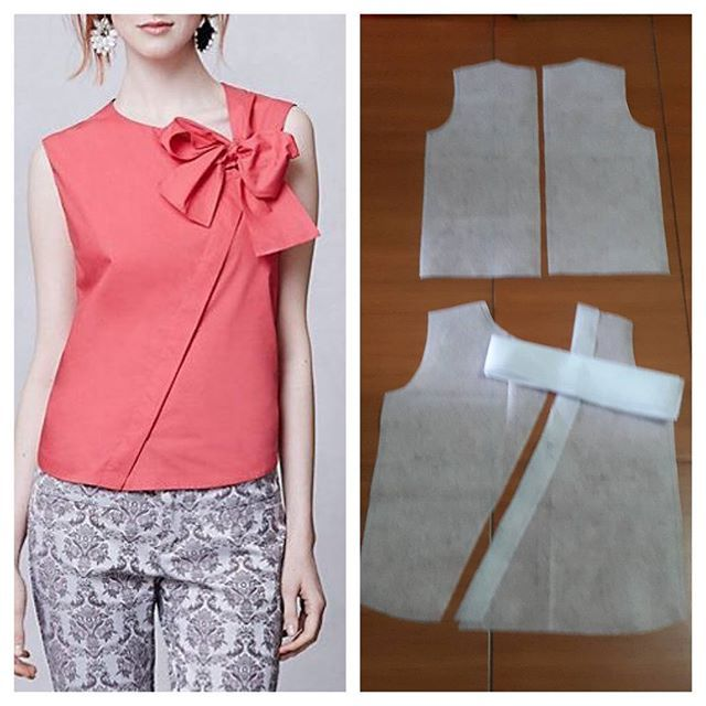 Bow top pattern sleeveless.