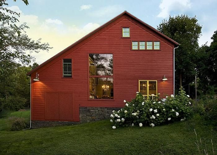 Architecture barn dusk converted pole barn homes home for Converting a pole barn into a house