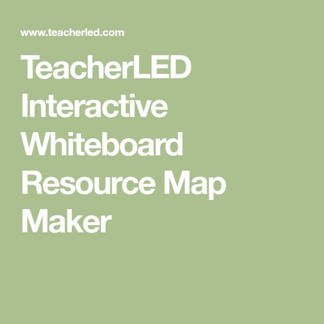 TeacherLED Interactive Whiteboard Resource Map Maker