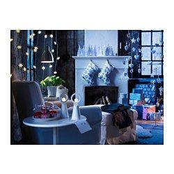 IKEA - STRÅLA, LED stolová dekorácia, , Poskytuje mäkké, teplé svetlo a po položení na okno alebo poličku vytvára krásnu tieňohru.Osvetlenie LED spotrebuje až o 85% menej energie a vydrží 20-krát dlhšie ako klasická  žiarovka.