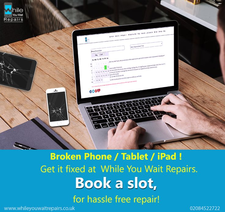 Broken Phone/Tablet/iPad !  Get it fixed at While You Wait Repairs. Book a slot, for hassle free repair!