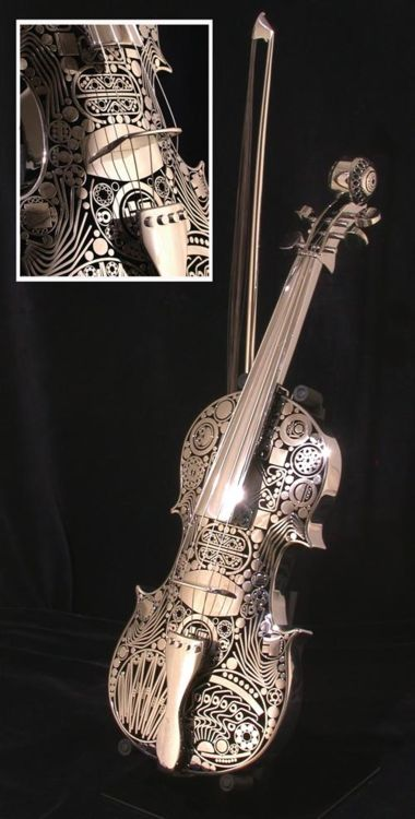 I would never do this to my own violin, but it sure is beautiful!