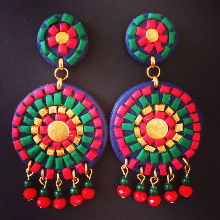 Mosaic bohochic earrings