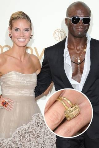 Despite This Gorgeous Yellow 10 Carat Engagement Ring Given To Heidi Klum On Top
