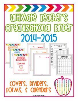 Ultimate Teacher's Organizational Binders -- Binder inserts to help you create a Substitute Binder, RtI Binder, Communication Log Binder, Student Information Binder, Meeting Notes Binder, Professional Development Binder, & MORE!!