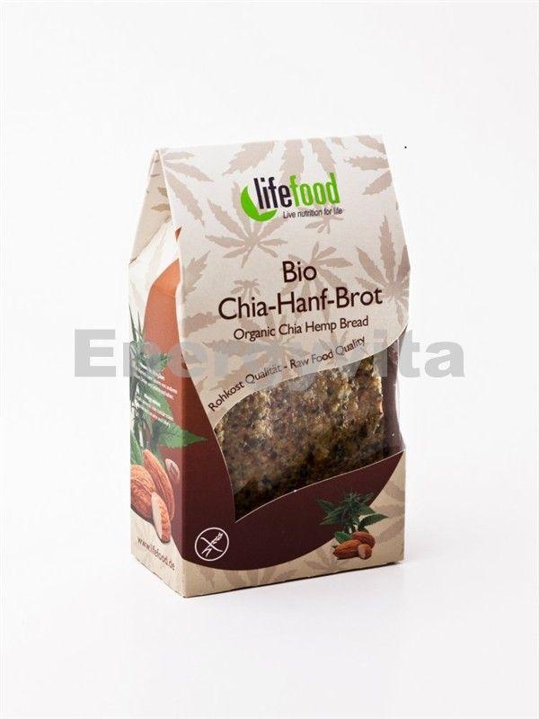 Konopný chléb nepečený s chia BIO 90g Lifefood