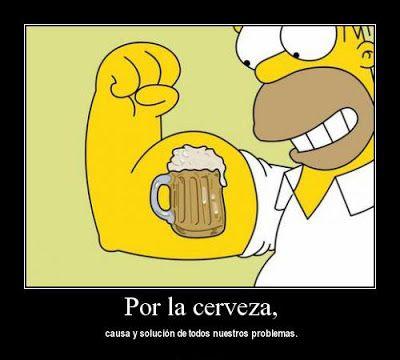 Desmotivaciones Homero Simpson cerveza