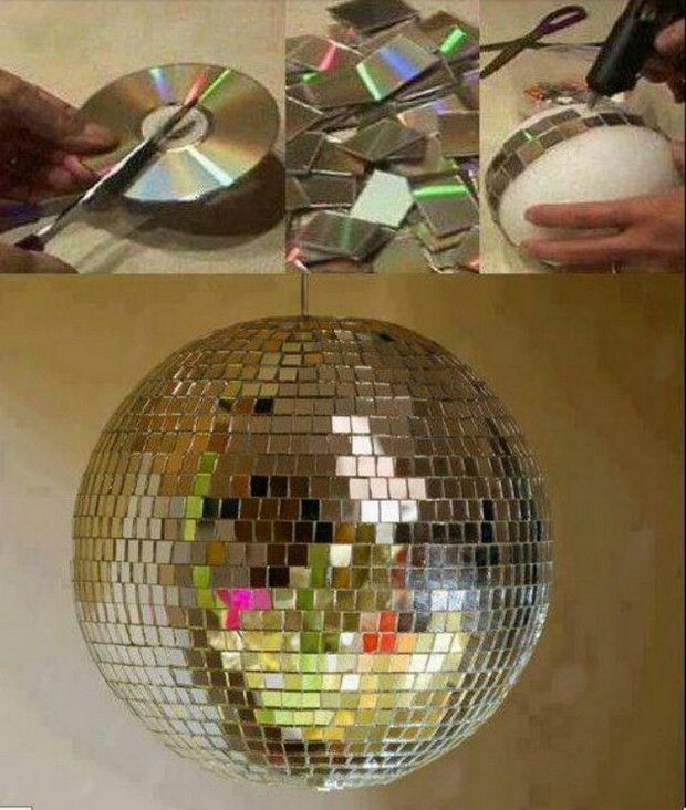 I want to do this with a vase.....32 Fun Craft Ideas Using Your Old CD's ...