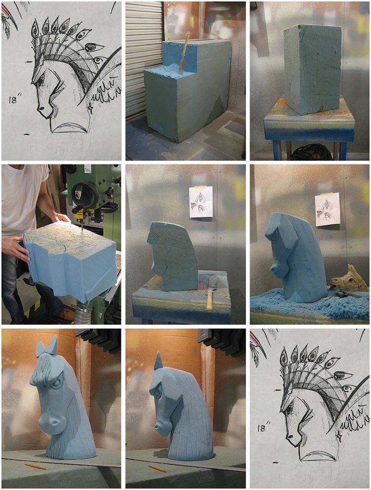 Styrofoam Sculpters | The foam sculpting process