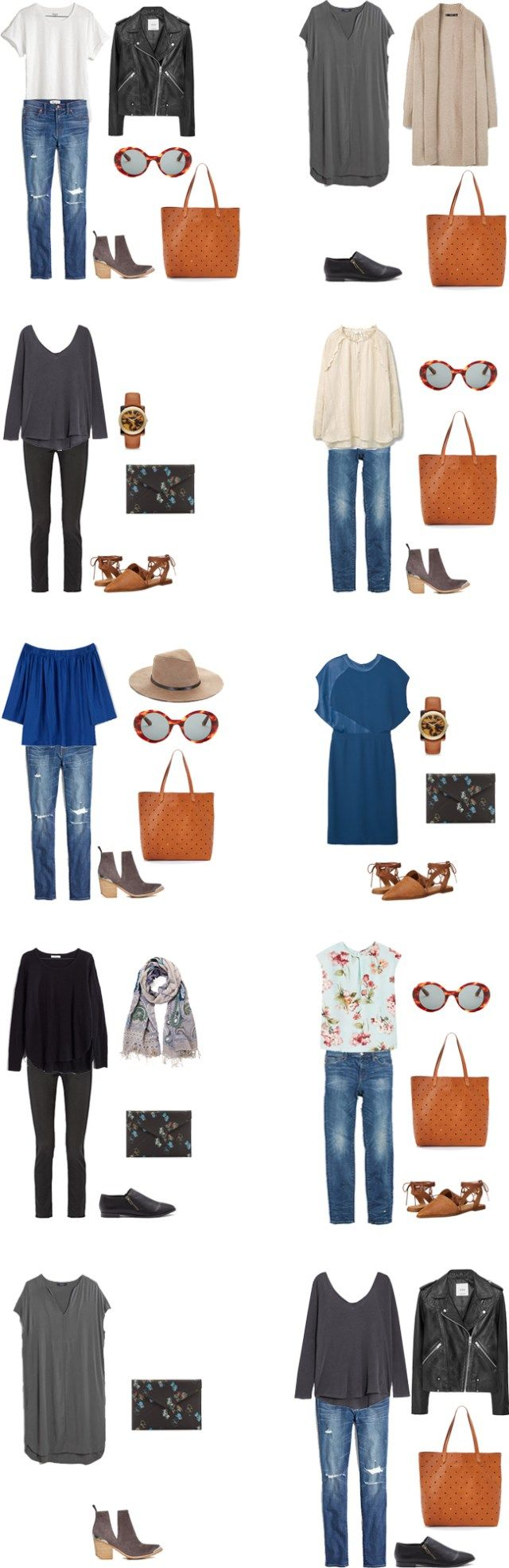 What to Wear in London England Outfit Options 1-10 #travellight #packinglight…