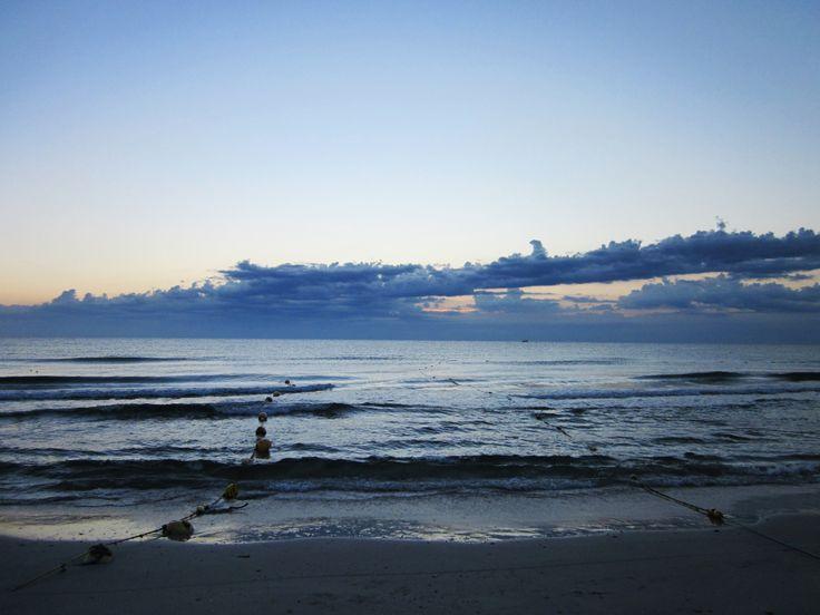 Morning walk on the beach, Tunisia