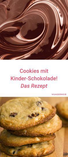 Dieses Rezept für Kinderschokolade-Cookies wirst du lieben! #rezept #backen #cookies