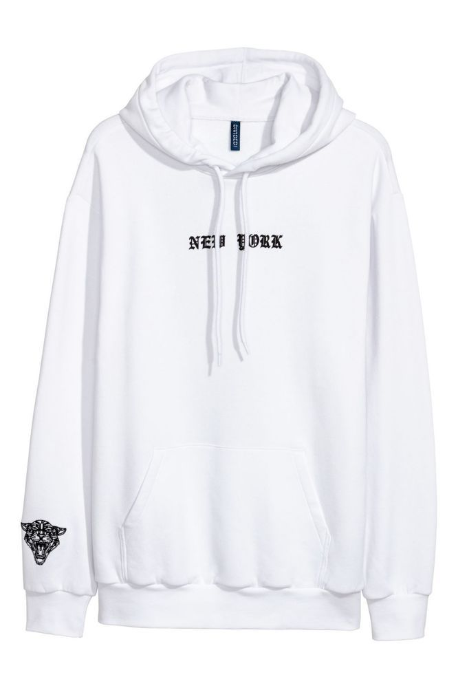 bc1eb145af0e NEW Hooded jumper - White - Men H M EXCLUSIVES Men s Hoodies NEW YORK  HM   Jumpers