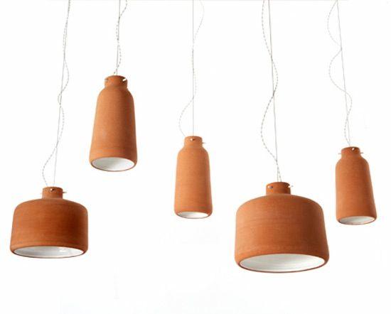 Clay Ceramic Lamps