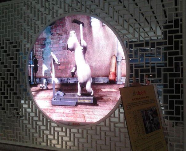 원형태(circle)의 LED 디스플레이입니다.  크기 및 해상도는 항상 변경 가능합니다!