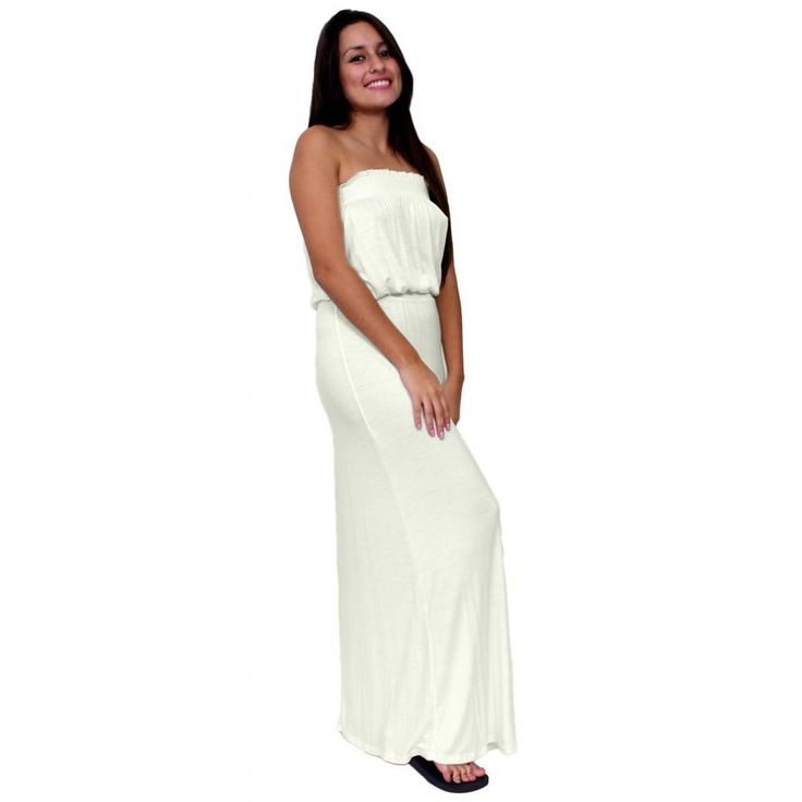 Women's smocked Tube Maxi Dress Long Full Length Made in the USA