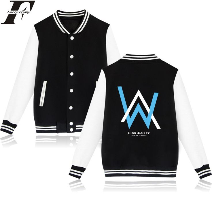 LUCKYFRIDAYF Wholesale Price Alan Walker Womens Winter Jackets And Coats Fashion Style Baseball Jacket For Couple / Women