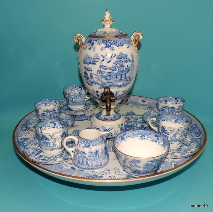 393 Best Images About Blue Amp White Tea On Pinterest