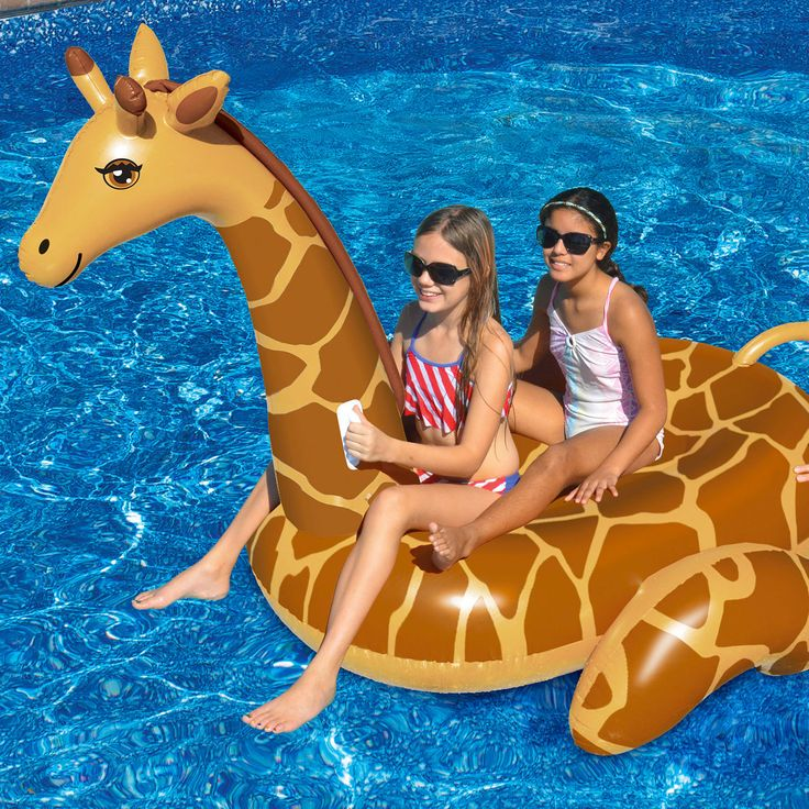 Toys and Games 181056: Swimline April The Giraffe Giant Inflatable Swimming Pool Lounge Float 90710 -> BUY IT NOW ONLY: $31.67 on eBay!