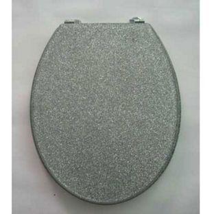 Silver Glitter Toilet Seat from Homebase.co.uk