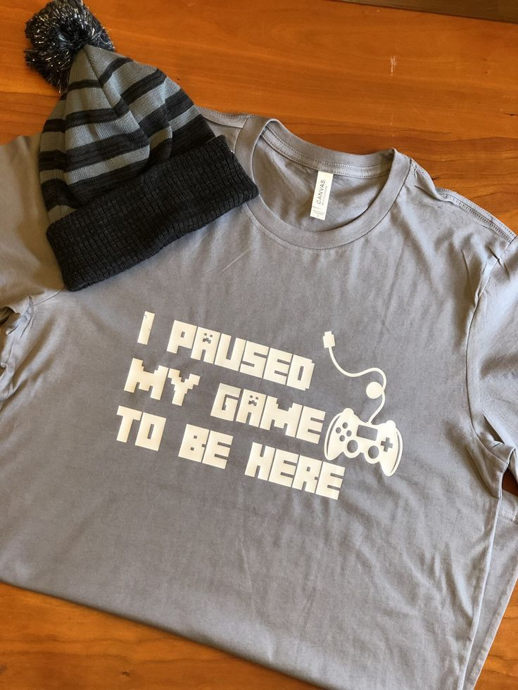 c7a58bdb Excited to share this item from my #etsy shop: Gaming tshirt | Paused my