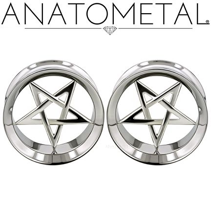"1"" Standard Eyelets in ASTM F-138 stainless steel with silver Pentagram Inserts"