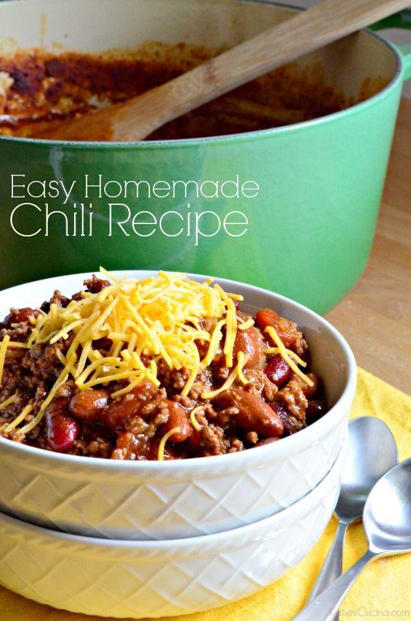 ... Homemade Chili Recipes on Pinterest | Chili Recipes, Easy Homemade
