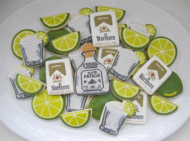 Patron & Lime Cookies (SugarBelle)  Don't like the cigarette packets (yuk!)
