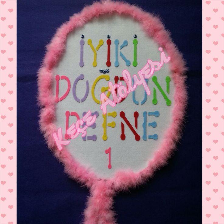 Kızımın 1. yaş günü duvar panosu balon şeklinde :)