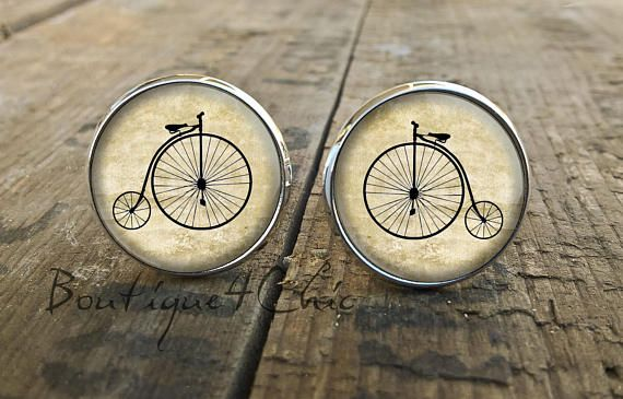 A good ride for your health, sporty cufflinks, cuff links for cycling fans : ) Great gift for every cycling person.  measures - 16mm silverplated nickel free Your item will be send in a pretty box and a protective bubble mailer by priority air mail with tracking option.  In the case of