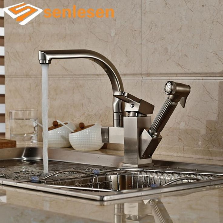 2017 New Arrival Pull Out Sprayer Gun Brushed Nickel Single Handle Kitchen Sink Mixer Faucet - ICON2 Luxury Designer Fixures  2017 #New #Arrival #Pull #Out #Sprayer #Gun #Brushed #Nickel #Single #Handle #Kitchen #Sink #Mixer #Faucet