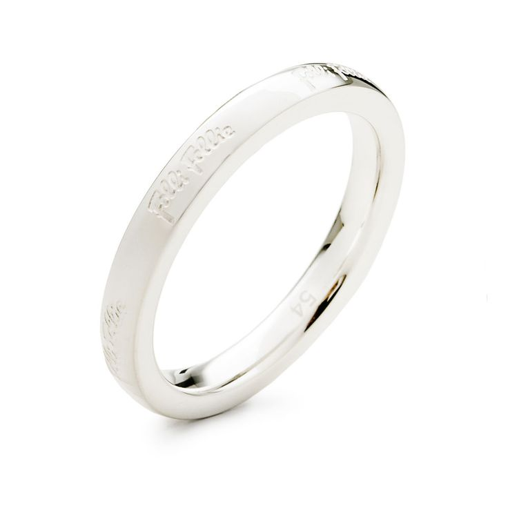 25€ Match & Dazzle Silver Plated Slim Band Ring