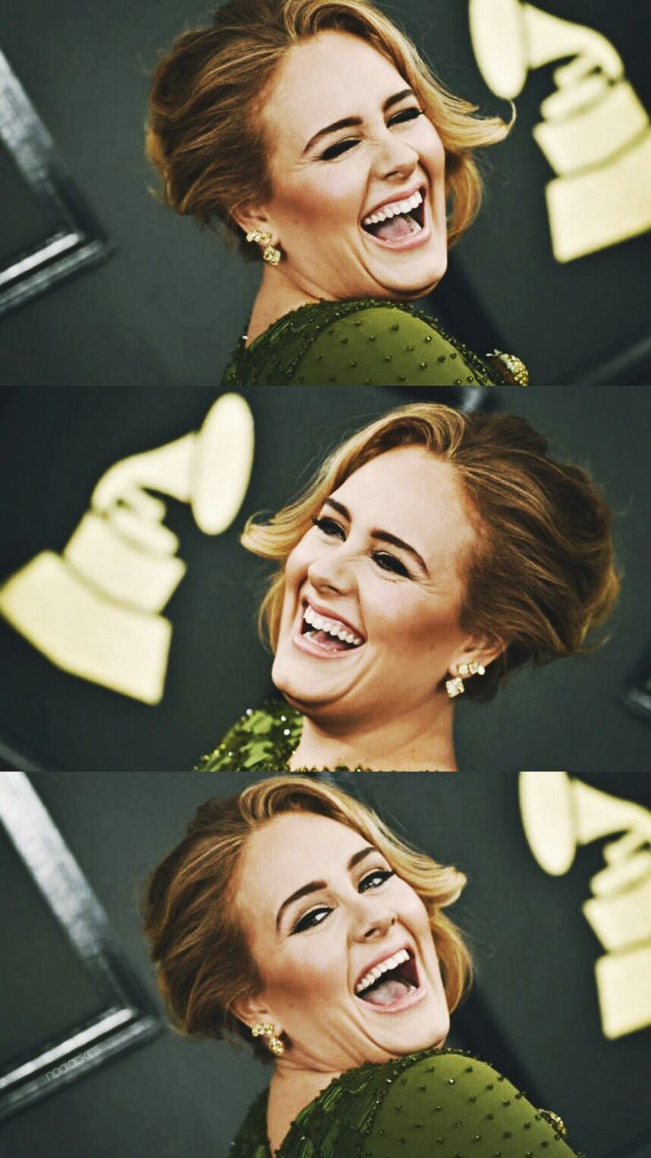 Love seeing pictures of Happy Adele! Exact opposite of the pain and sadness in her songs! Follow rickysturn/amazing-women