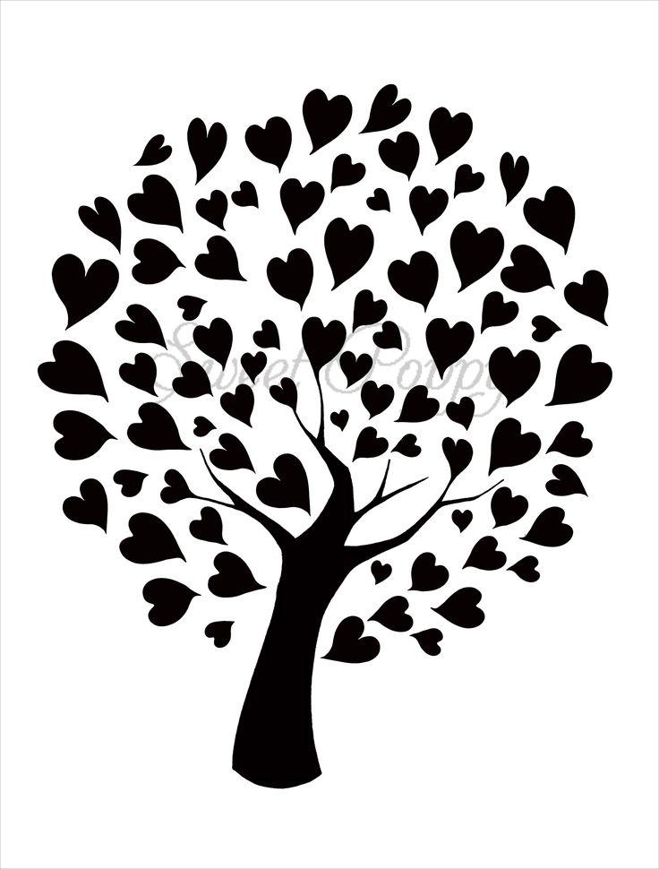 Sweet Poppy Stencil: Tree of Hearts